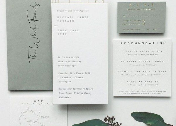 Rustic and green wedding invites
