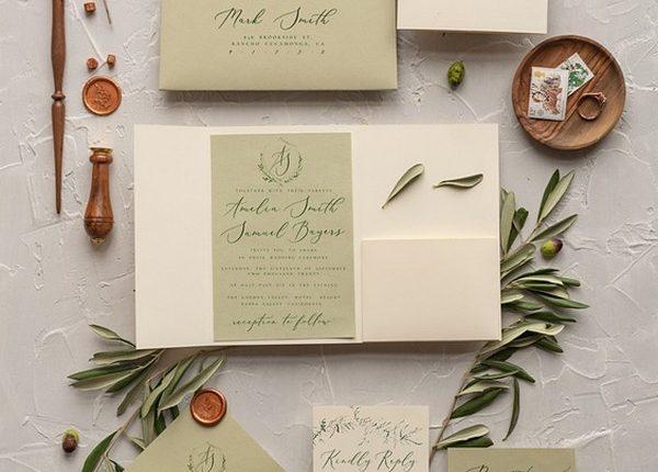 Tusany Wedding Invitations Real Olive Tree Branch Invites