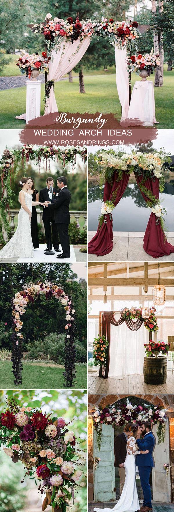 50 Best Burgundy Wedding Color Ideas for 2020 | Roses & Rings