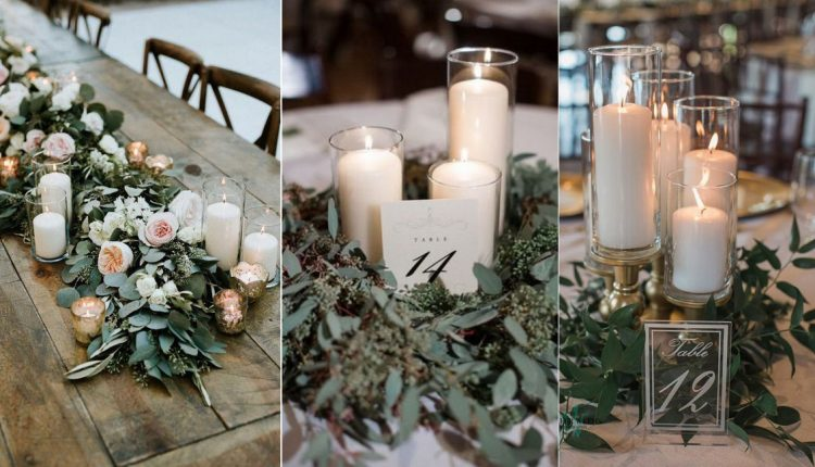 candles wedding centerpiece ideas