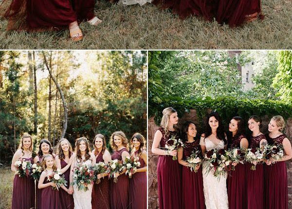 chic burgundy bridesmaid dresses ideas for fall weddings