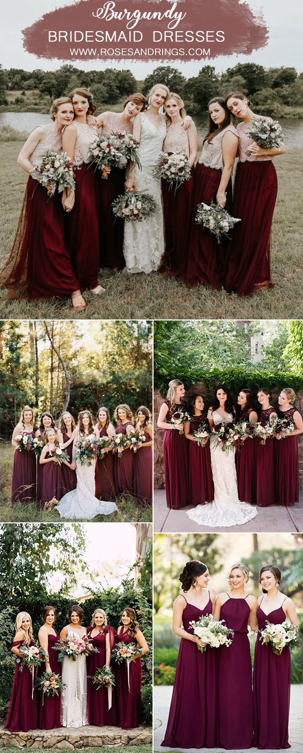 50 Best Burgundy Wedding Color Ideas For 2020 Roses Rings,Plus Size Wedding Dresses Mermaid Style Lace