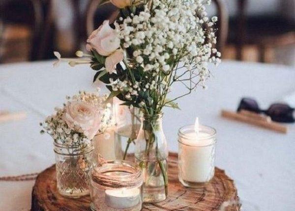 chic rustic wedding centerpiece ideas