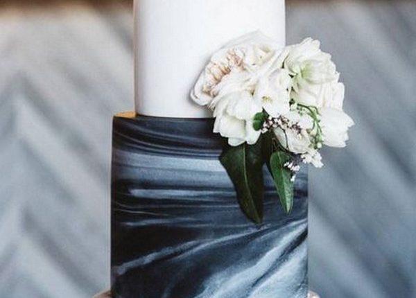 navy blue wedding cake ideas