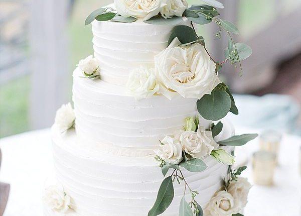 sage eucalyptus wedding cake