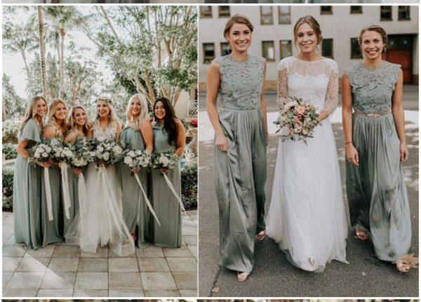 sage green bridesmaid dresses for wedding
