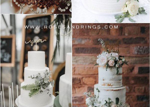 sage green wedding cakes