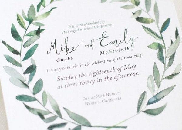 sage green wedding invitation