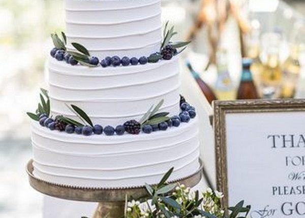 simple chic wedding cake ideas