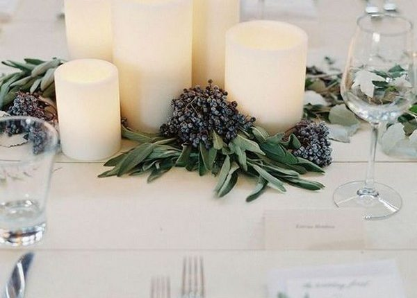 simple winter wedding centerpiece idaes