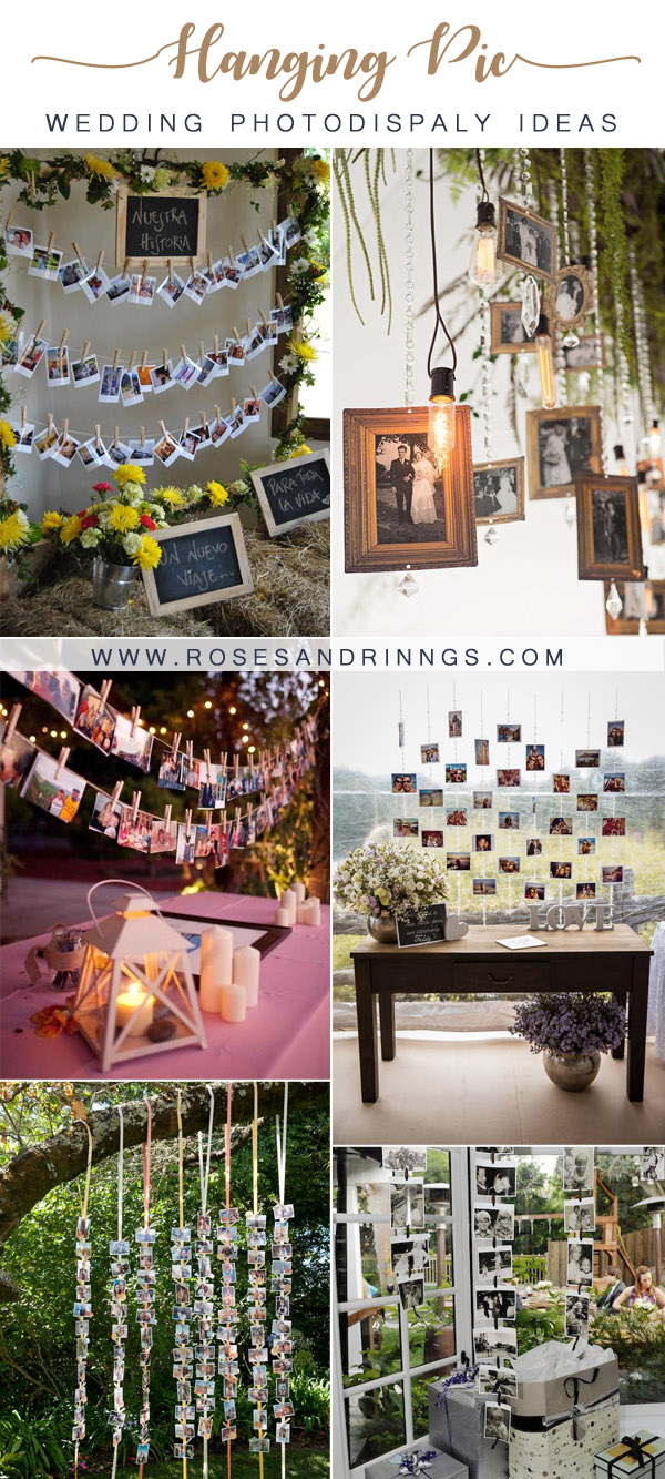 Wedding Decorations Ideas with Hanging Pics