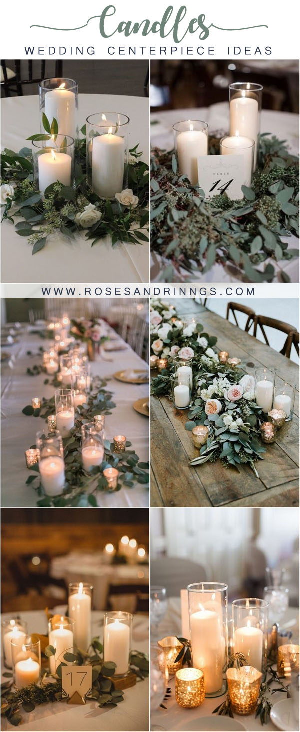 candles wedding centerpiece ideas