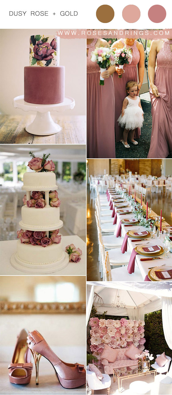 Top 9 Dusty Rose Wedding Color Palettes for 2020 | Roses & Rings