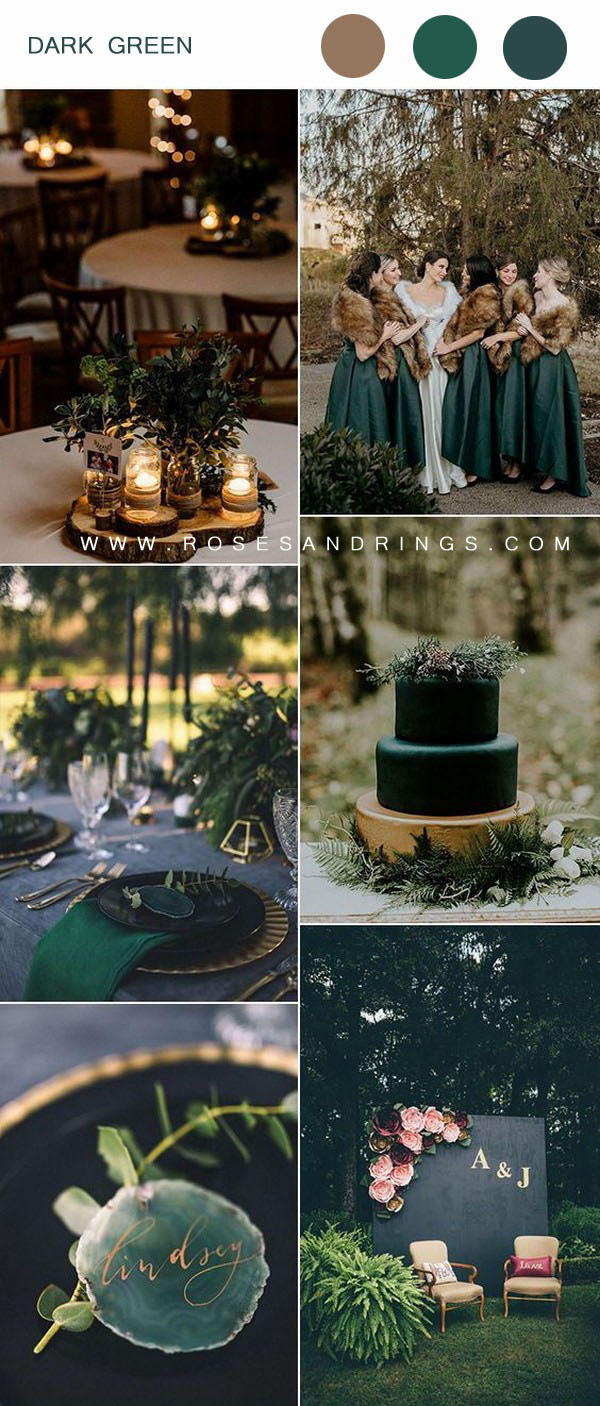 Top 20 Wedding Color Ideas for Fall 20   Roses & Rings