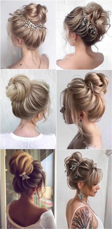 Top 20 High Bun Wedding Hairstyles From 7 Instagram Gurus Roses Rings