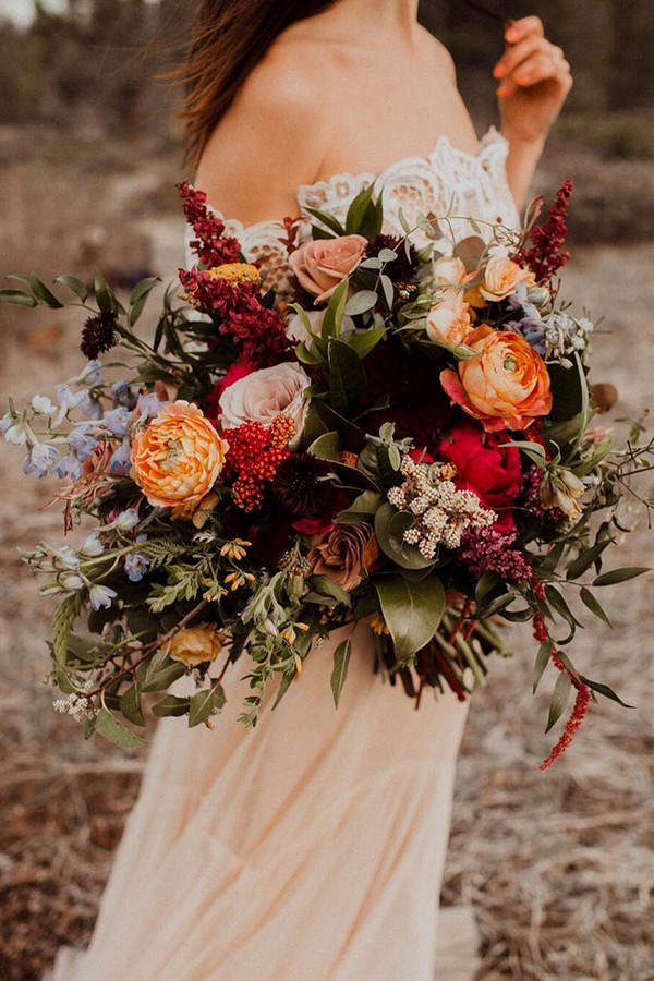 20 Rust Burnt Orange Fall Wedding Bouquets  Roses & Rings