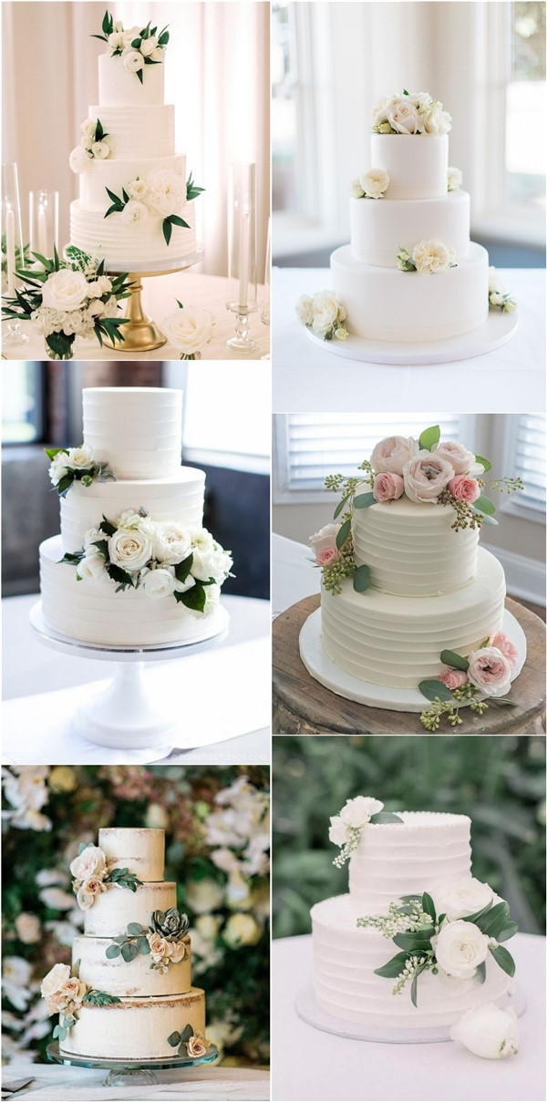 Top 20 Simple Wedding Cakes On Budgets For 2020 Roses Rings