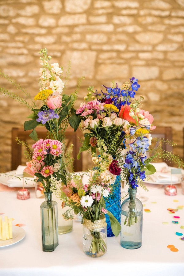 20 Budget Friendly Wildflower Wedding Centerpieces For Spring Summer Roses Rings