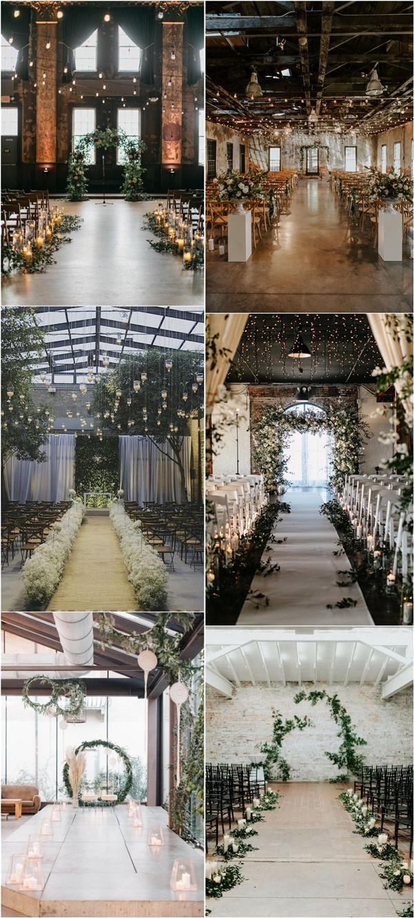 Top 20 Rustic Indoor Wedding Arches and Aisle Ideas for Ceremony | Roses &  Rings