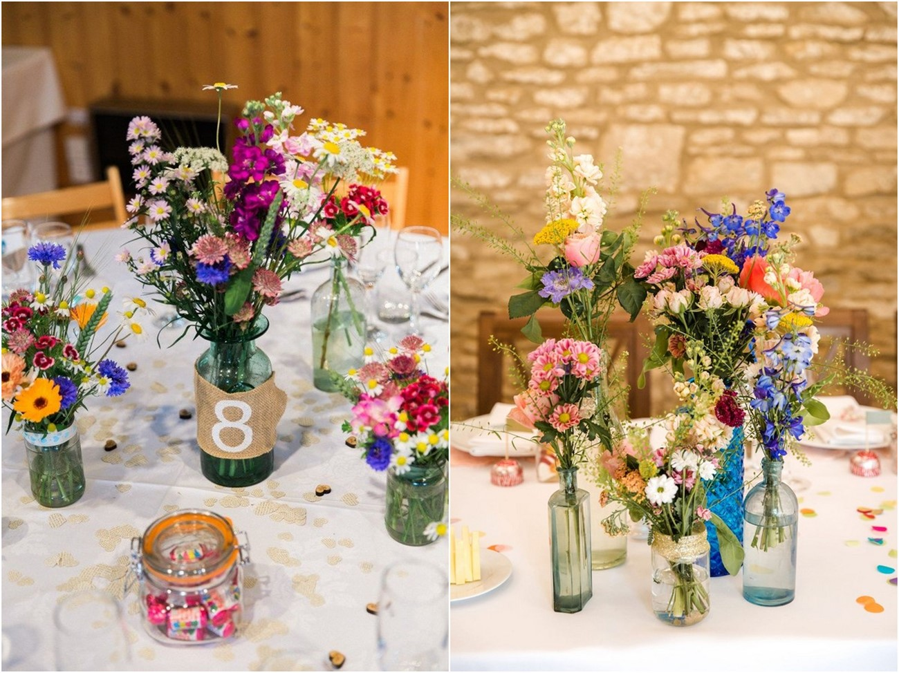 20 Budget-friendly Wildflower Wedding Centerpieces for Spring Summer |  Roses & Rings