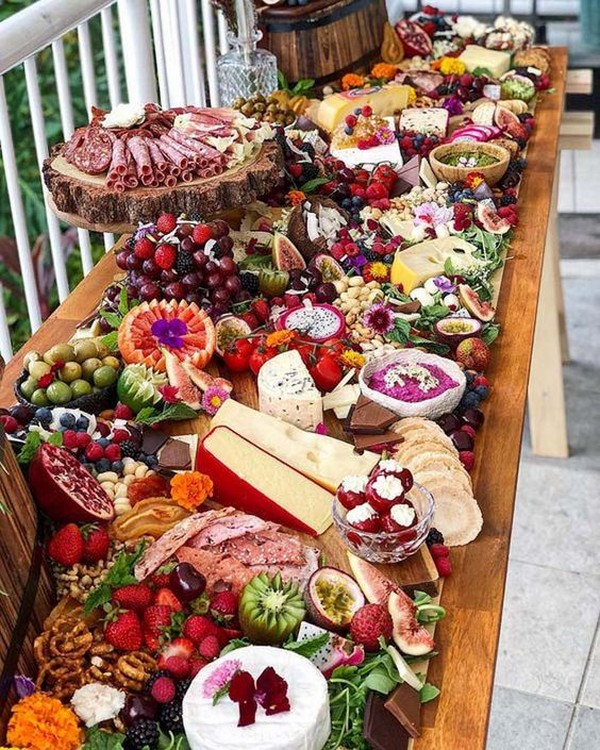 cheese platters wedding charcuterie table ideas