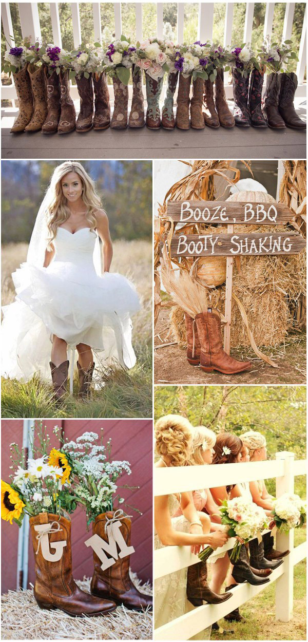 Chic Western Cowboy Boot Country Wedding Ideas