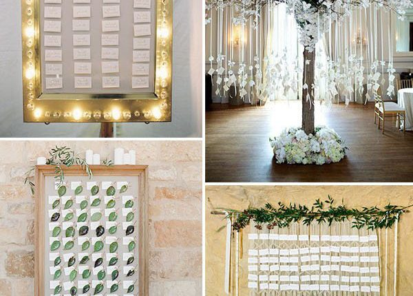 Creative seating chart and escort card display ideas