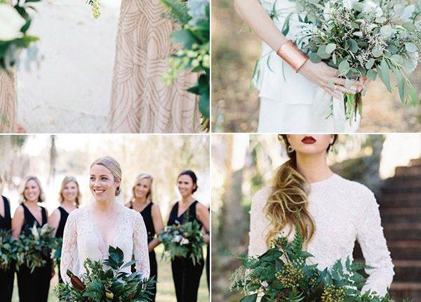 Greenery Wedding Bouquets Ideas