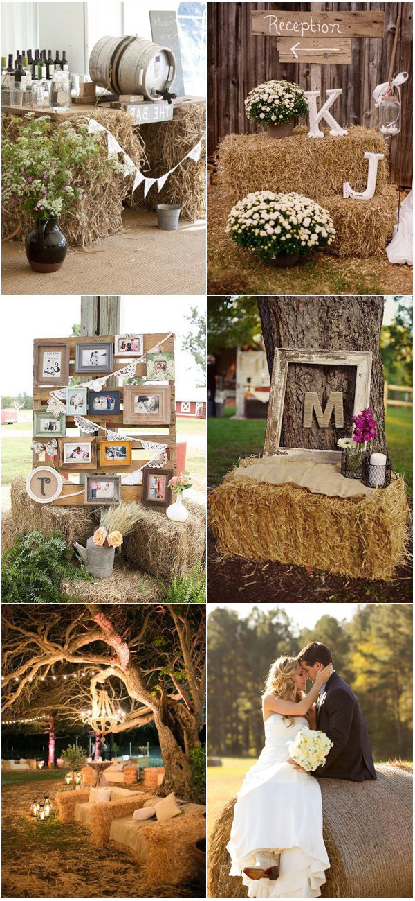 Simple Rustic Country Wedding Ideas Inspired by Hay Bales