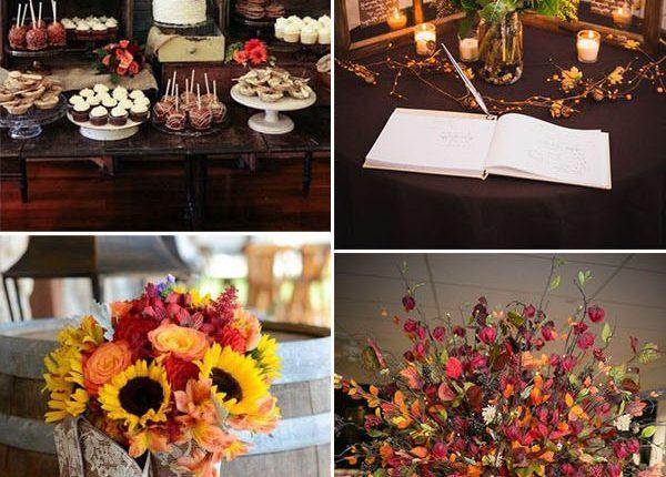 creative and pretty fall wedding reception decoration ideas
