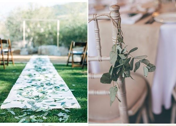 do it yourself greenery wedding ceremony aisle and chair decoration ideas
