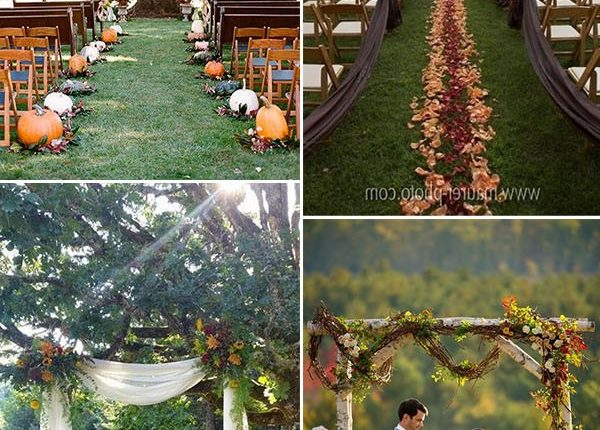 fall wedding ceremony and arches ideas