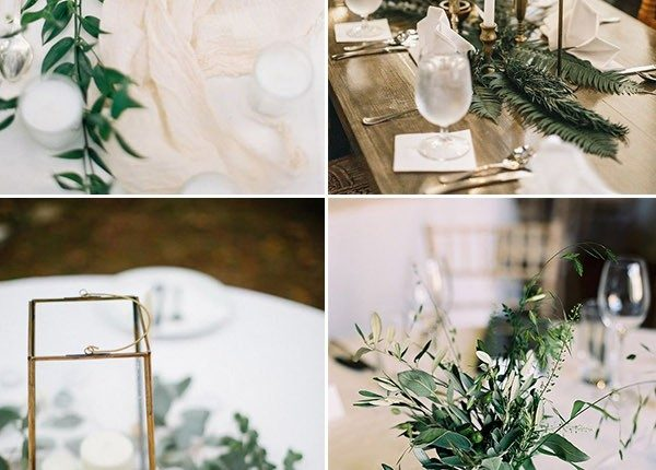 minimal organic wedding centerpieces ideas