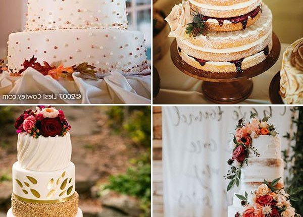 spetacular fall wedding cake ideas
