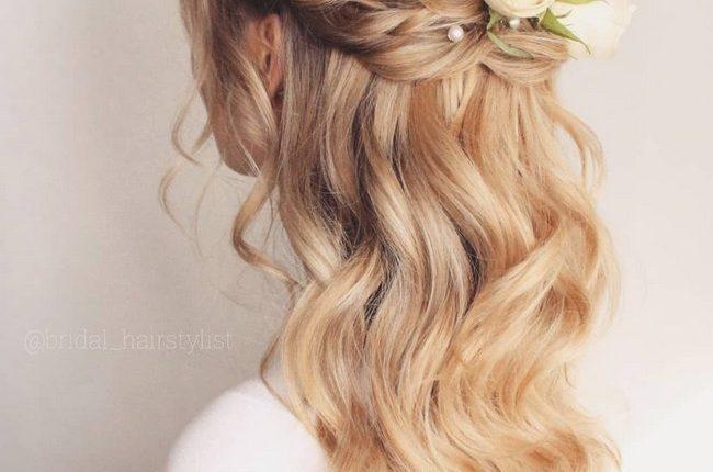 Olga Hampshire Half Up Half Down Wedding Hairstyles 1