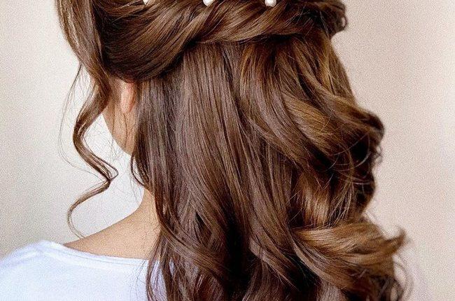 Olga Hampshire Half Up Half Down Wedding Hairstyles 12