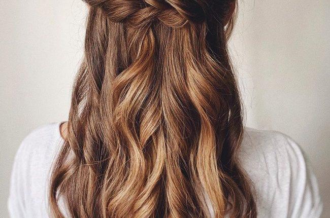 Olga Hampshire Half Up Half Down Wedding Hairstyles 15