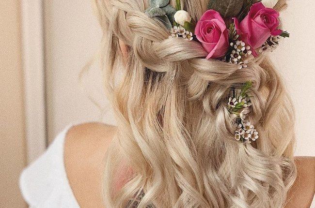 Olga Hampshire Half Up Half Down Wedding Hairstyles 16