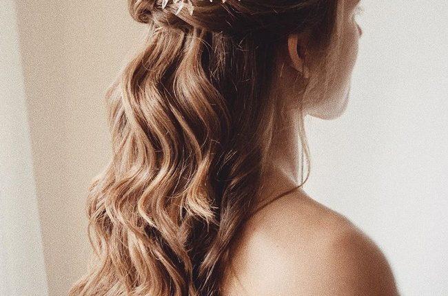 Olga Hampshire Half Up Half Down Wedding Hairstyles 17