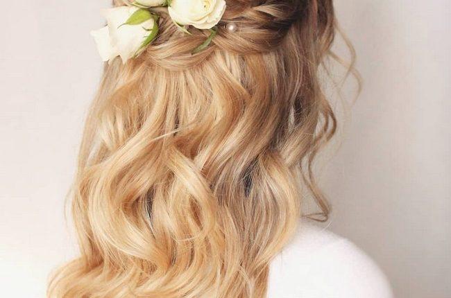 Olga Hampshire Half Up Half Down Wedding Hairstyles 2