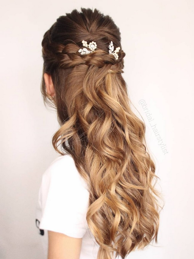 Olga Hampshire Half Up Half Down Wedding Hairstyles #wedding #hair #hairstyles #weddingideas
