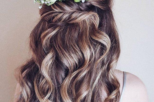 Olga Hampshire Half Up Half Down Wedding Hairstyles 6