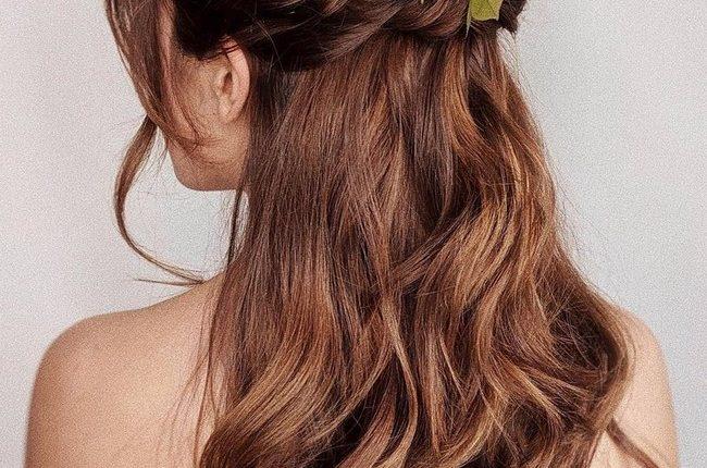 Olga Hampshire Half Up Half Down Wedding Hairstyles 7