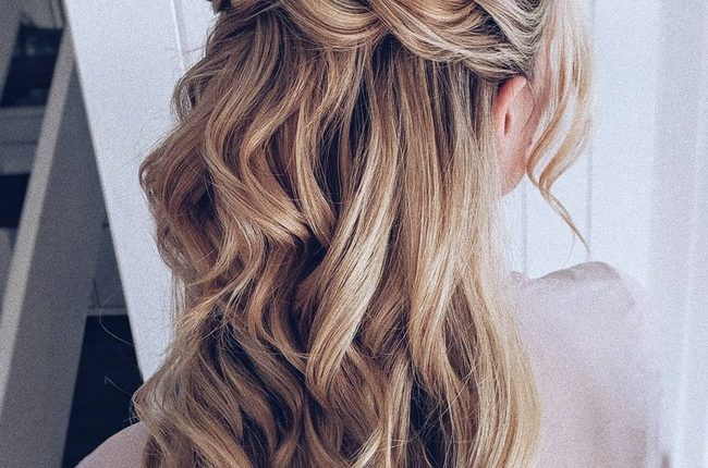 Olga Hampshire Half Up Half Down Wedding Hairstyles 8