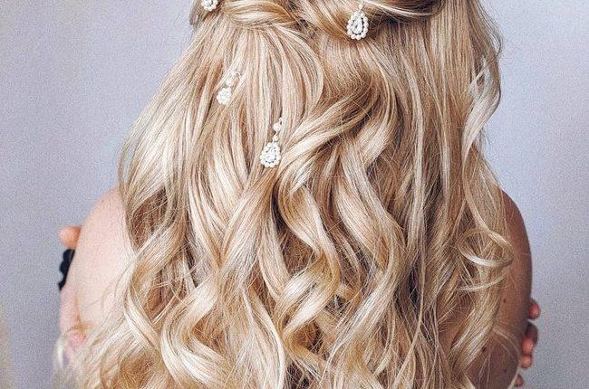 Olga Hampshire Half Up Half Down Wedding Hairstyles 9