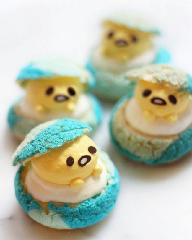 Gudetama easter egg puffs
