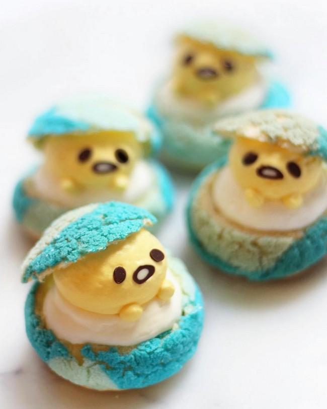 Gudetama easter egg puffs