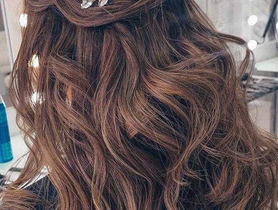 Half up half down wedding hairstyles 1
