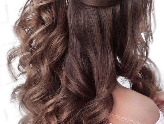 Half up half down wedding hairstyles 11