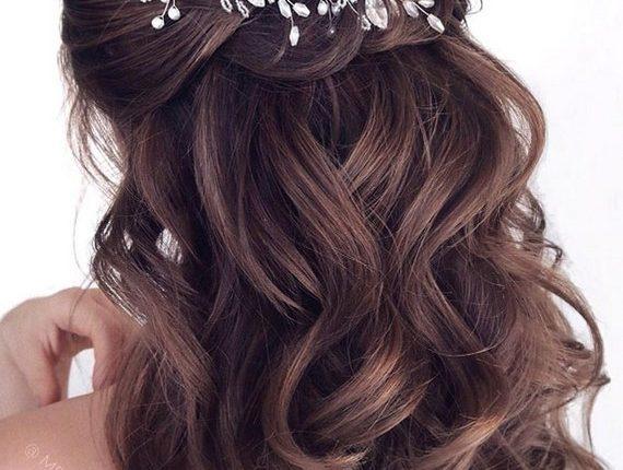 Half up half down wedding hairstyles 16
